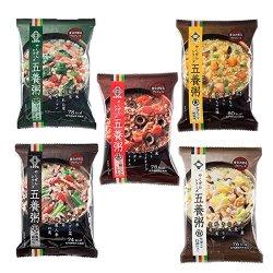 画像1: 養命酒 五養粥 やくぜんシリーズ 緑 黄 赤 白 黒 5種10食セット