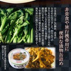 画像2: ごはんのおとも 九州の高菜 缶詰め70g 道本食品 旅行 海外土産にも