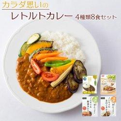 画像1: カラダ思いのレトルトカレー 4種類8食 お試しセット 詰め合わせ 健康志向 常温保存